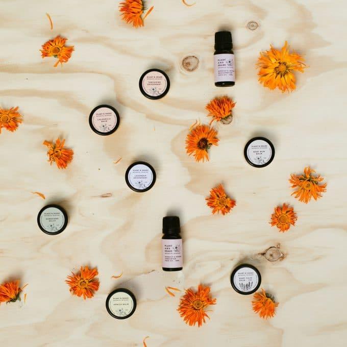 Plant and Share Skincare - sample range