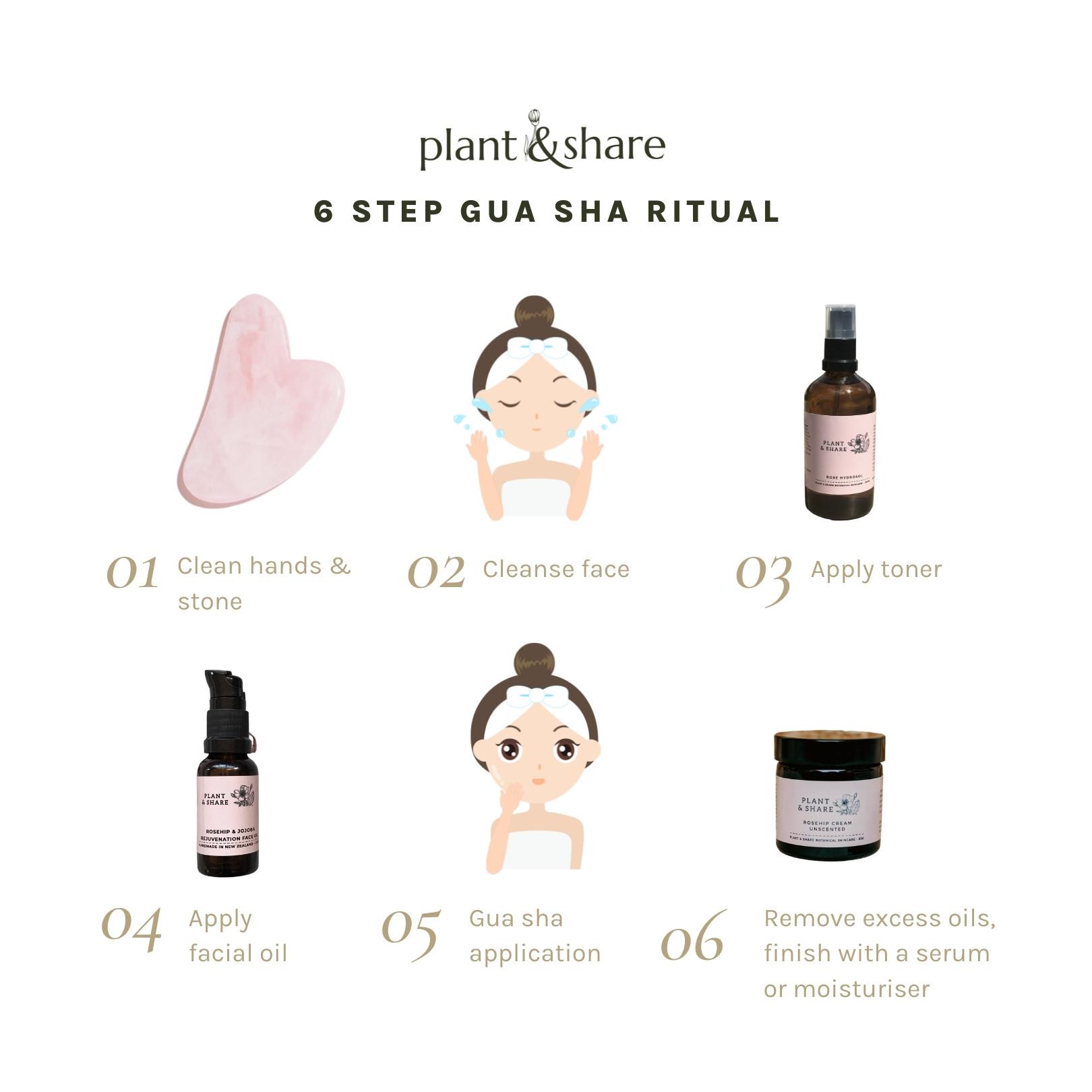 6 step gua sha ritual